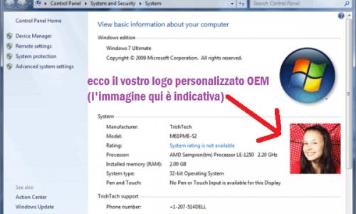 """GUIDA:Come inserire il logo OEM personalizzato in """"sistema"""" su Windows 7 – 8 – 10"""