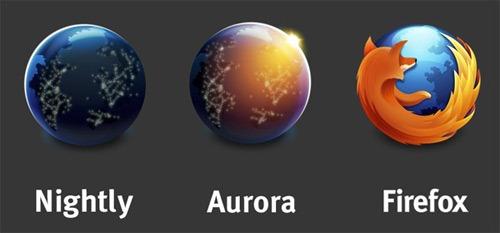 Difference between Firefox,Firefox Beta,Firefox Aurora and