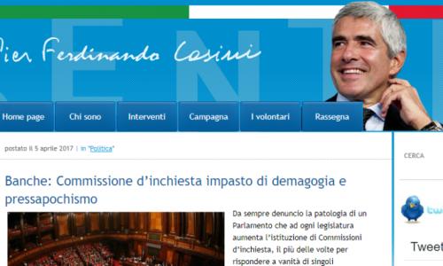 L'incoerenza della politica. PD vota Casini (l'immortale) che da censore diventa Presidente Commissione Banche