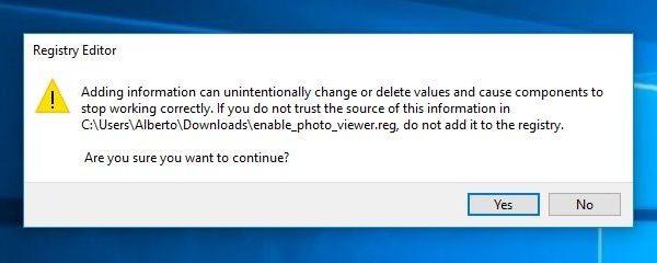 """[GUIDA] ripristinare """"visualizzatore foto immagini di windows"""" in Windows 10"""