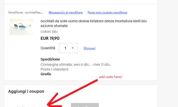 Codice sconto Ebay – Dicembre 2019
