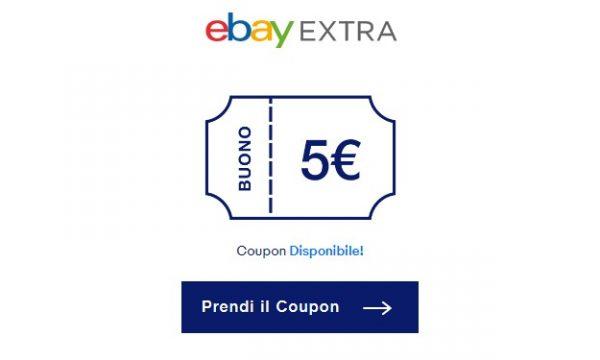 Ebay Extra: iscriviti gratis per ricevere un coupon da 5€!